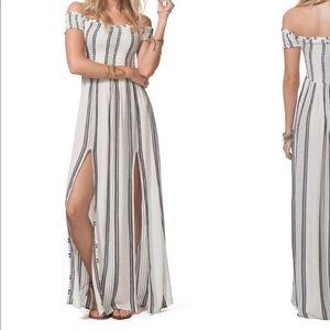 O'Neil smocked maxi striped dress
